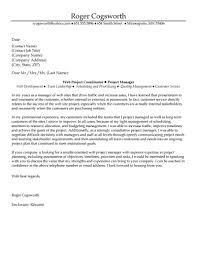 Project Manager Cover Letter Examples Adriangatton Com