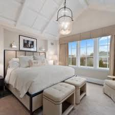 Neutral Bedroom With Vaulted Ceiling