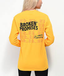 Broken Promises Daily Ritual Gold Long Sleeve T Shirt
