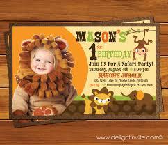 Safari Party Invitations First Birthday Safari Birthday Invitation Custom Invitations And