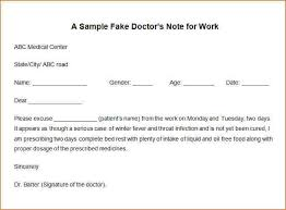 How To Make A Doctor Note How To Make A Doctors Note For Work How To Make A Doctor Note