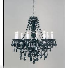modern black acrylic 12 light wall light 308 12bl