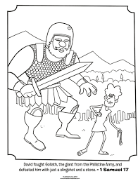 David And Goliath Bible Coloring Pages What S In The Bible