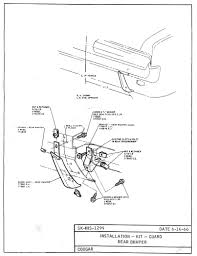 Mounting brackets and hardware bumper guard rear used 1967 mercury cougar stereo wiring diagram