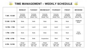 Goal Setting Workshop Time Management Chart For Housewives