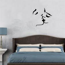 Small Picture 56x58cm Romantic French Kiss Design Vinyl Wall Stickers Removable