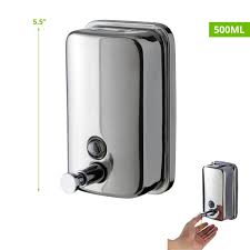wall mounted stainless steel touch soap dispenser