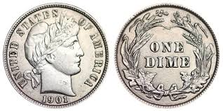 Dime Value Chart 1901 Barber Dime Coin Value Prices Photos Info