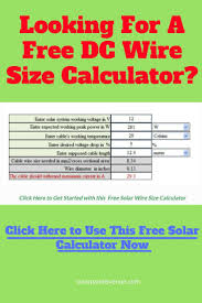 Dc Power Plug Size Chart Free Solar Cable Size Calculator Solar Panel Inverter