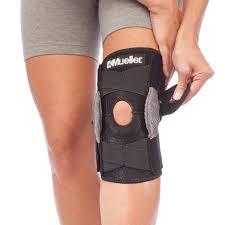 Mueller Adjustable Hinged Knee Brace Black One Size Fits Most