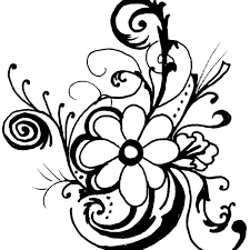 flower clipart black and white free flower black and white transpa png pictures free icons and