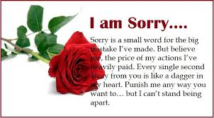 I am sorry messages for wife - Apology Quotes