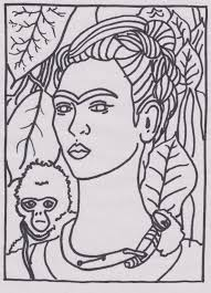 Famous Art Printable Frida Kahlo Best Of Coloring Pages - glum.me