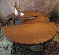 table with leaf built in g plan imported teak table perfect size round table that features table with leaf built