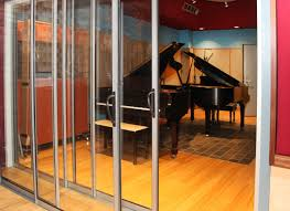 our sliding glass recording studio doors installed at allyworld studio in tacoma park providing an amazing stc of 63 the allyworld studio venue was