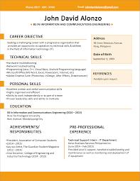 Best Resume Template Download Oneswordnet