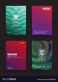 Mini Brochure Design Different Brochures Design Templates Royalty Free Vector
