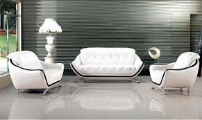 office settee. White Office Sofa Comfortable Couch Button Tufted Contemporary Genuine Leather Settee
