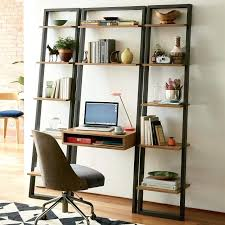 desk and bookshelf computer combination desk and bookshelf