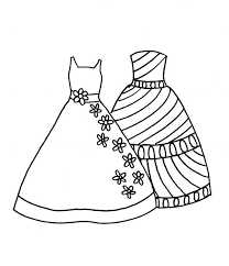 Small Picture Dress Coloring Page Fashion Coloring Clothing Accessories
