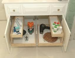 under sink cabinet sliding basket organizer drawer ideas