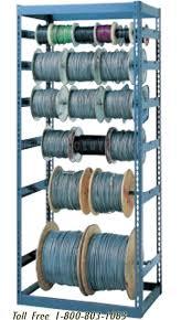boltless high capacity cable reel racks
