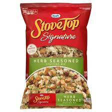 stove top stuffing logo. stove top signature herb stuffing mix - 12oz logo g