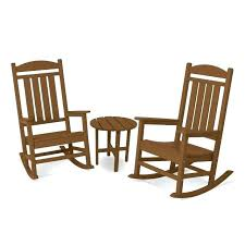 polywood presidential 3 piece outdoor rocking chair set with porch rocking chairs patio rocking chairs