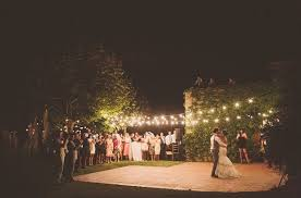 outside wedding lighting ideas. Outdoor Wedding Lights Decorations With String Lamps And Wooden Chairs Around Lush Vegetation Outside Lighting Ideas U