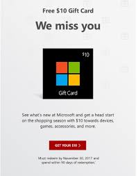 Microsoft Giftcard Check Your Email Free 10 Microsoft Gift Card Ymmv