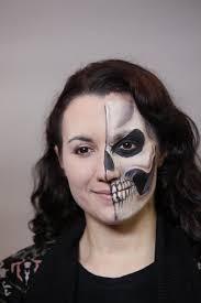 great half face makeup