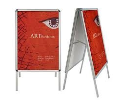 A Frame Display Stands Aluminum Snap Frame Display Stand 5
