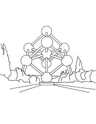 Atomium Vùng Hội Chợ Triển Lãm 58 Kleurplaat Vẽ Những Người Khác