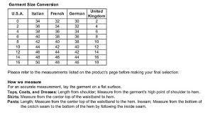 Prada Clothing Size Chart Prada Size Chart