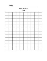 Blank 120 Chart Free 1st Grade Blank 1 To 120 Grid Chart 120 Chart Writing