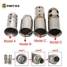 <b>ZS MOTOS 51mm</b> 60mm Inlet Motorcycle Exhaust Muffler Adjustable ...
