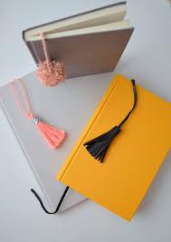 diy gift for the office tassel and pom pom notebooks diy gift ideas for