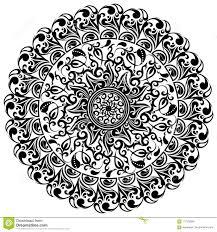 цветочный узор азиатские орнаменты татуировка иллюстрация вектора