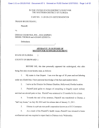 Affidavit Of Support Letter Fascinating Affidavit In Support Of Motion For Summary Judgment