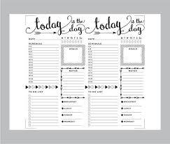 Daily Journal Planner Printable Travelers Notebook Daily Insert Regular Tn