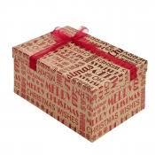 Merry Christmas Kraft Square Christmas Gift Box  Medium