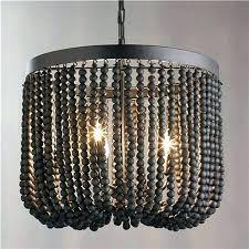 wood bead chandelier black and wood chandelier wood beaded dd chandelier view full size black wood