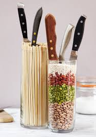 Kitchen Knife Storage Bamboo Box Knife Holder Collection Skewers Places And Best