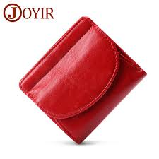 <b>JOYIR Women'S</b> Mini Wallet <b>Genuine Leather Female</b> Small Card ...