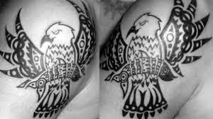тату орел в стиле трайбл 40 татуировок