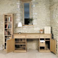 mobel oak hidden twin. Mobel Oak Large Hidden Office Twin Pedestal Desk A