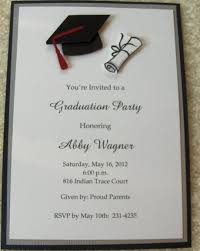 Sample Invitation Cards Sample Graduation Invitation Cards Paperblog