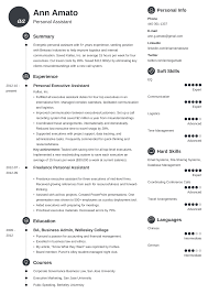 Personal Assistant Resume Sample Writing Guide 20 Examples