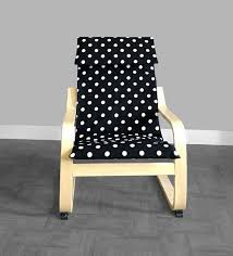 ikea kids poÄng cushion slipcover black white polka dot by rockincushions