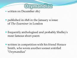 ozymandias ppt
